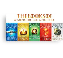 Games Of Thrones The Books Canvas Print