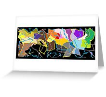 Neon Continents  Greeting Card