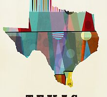 texas state map by bri-b
