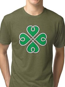 Celtic Knot 4 Leaf Clover #1 Tri-blend T-Shirt