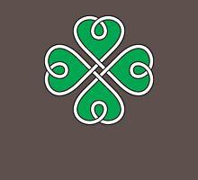 Celtic Knot 4 Leaf Clover #1 Mens V-Neck T-Shirt
