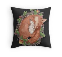 a Fox and a hare Throw Pillow