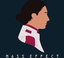 Mass Effect Ashley Williams Minimalist by quidvis