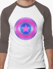 Bi Pride Shield Men's Baseball ¾ T-Shirt