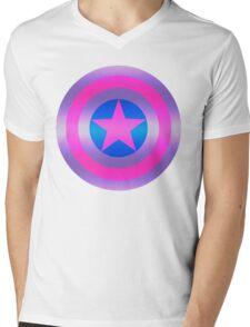 Bi Pride Shield Mens V-Neck T-Shirt