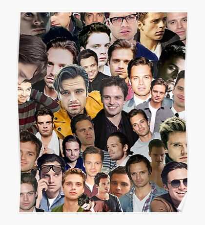 sebastian stan collage Poster