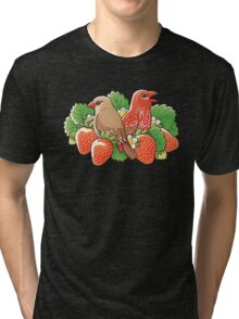 Strawberry finches Tri-blend T-Shirt