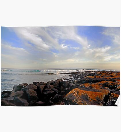 On the Rocks at Port Fairy Poster