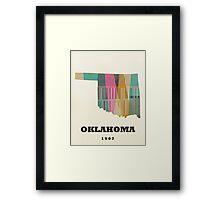 oklahoma state map Framed Print