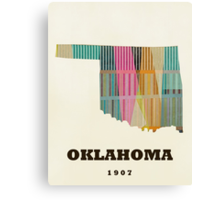 oklahoma state map Canvas Print
