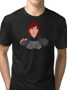 Mass Effect FemShep Minimalist Tri-blend T-Shirt