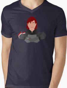 Mass Effect FemShep Minimalist Mens V-Neck T-Shirt