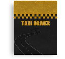 Taxi Driver T Shirt Canvas Print