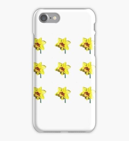 Bright yellow daffodils iPhone Case/Skin