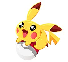 Pikachu : PokemonGo Photographic Print