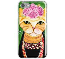 Frida Catlo in Orange iPhone Case/Skin