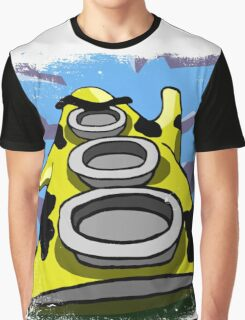 Mooniac Mansion - Yellow Tentacle Graphic T-Shirt
