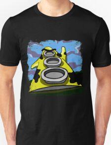 Mooniac Mansion - Yellow Tentacle Unisex T-Shirt