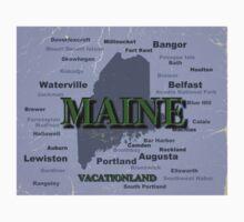 Maine State Pride Map Silhouette  Kids Tee