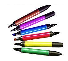 Markers Rainbow Photographic Print