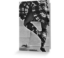 Scottish Sword Dancer Greeting Card