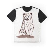 Approaching Tiger Graphic T-Shirt