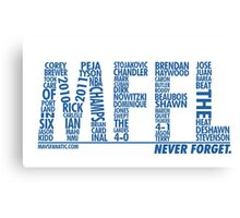 Mavs Fanatic - Never Forget Canvas Print