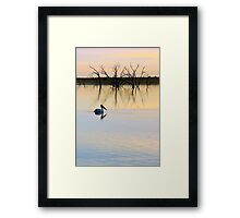 Peace and Quiet on the Lake Framed Print