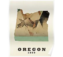 oregon state map Poster