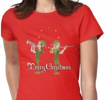 Elves Play Christmas Carols Womens Fitted T-Shirt