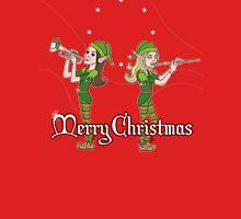 Elves Play Christmas Carols Womens Fitted T-Shirt