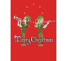 Elves Play Christmas Carols Photographic Print