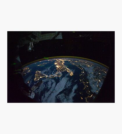 Italy from ISS Photographic Print