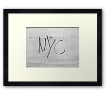 NYC Style bw NEW YORK CITY  Framed Print