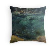 Bubbling Hot Springs Throw Pillow