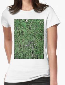 Light Greenery  Womens Fitted T-Shirt