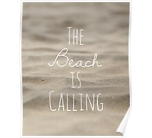 The Beach is Calling Poster