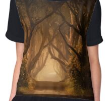 Sunny morning in Dark Hedges Chiffon Top