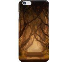 Sunny morning in Dark Hedges iPhone Case/Skin