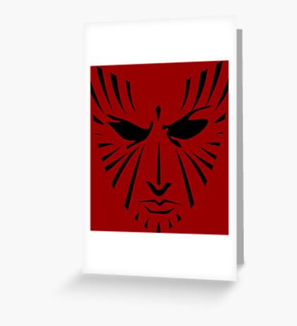 Rachel Summers (Black on Red) Greeting Card