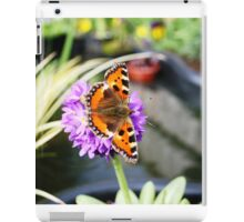 Butterfly on Primula Denticulata Flower iPad Case/Skin