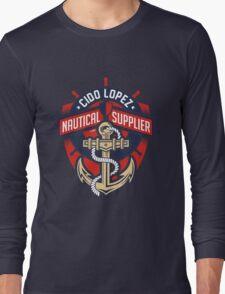 Nautical Supplier Graphic Art Long Sleeve T-Shirt