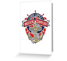 Nautical Supplier Graphic Art Greeting Card