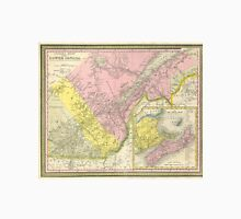Vintage Map of Eastern Canada (1850) Unisex T-Shirt