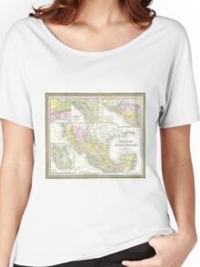 Vintage Map of Mexico (1850) Women's Relaxed Fit T-Shirt