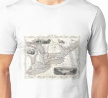 Vintage Map of Ontario Canada (1850) Unisex T-Shirt