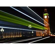 Westminster at night time  by BennoArts Photographic Print
