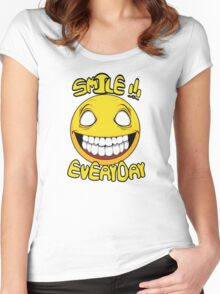Scary Smilling Face Women's Fitted Scoop T-Shirt