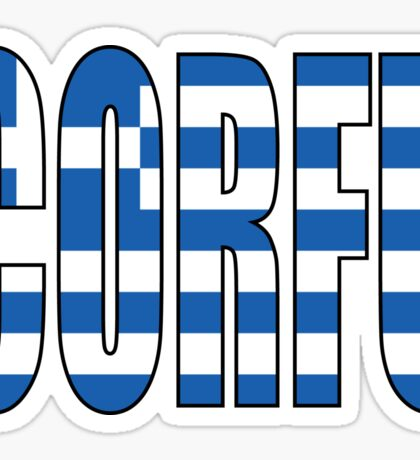 Corfu. Sticker