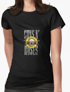 Guns And Roses Womens Fitted T-Shirt